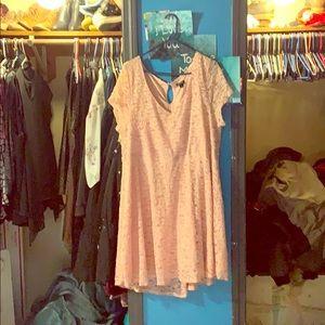 Pink keyhole dress
